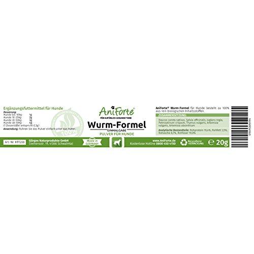 AniForte Wurm-Formel 20 g- Naturprodukt für Hunde -