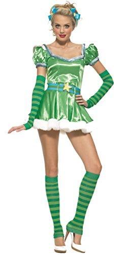 Leg Avenue - Sternen Fee Karneval Kostüm Minikleid für Damen - M - grün