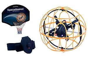 Juguetrónica JUG0325 Spacebasket Zerogravity, Juego de Simulación Deportiva, Naranja