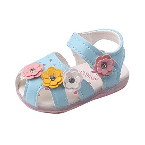 Baby Schuhe Baby Mädchen Sandalen OSYARD Beleuchtete LED Soft-Soled Krabbelschuhe Lauflernschuhe Prinzessin Schuhe (3-18 Monate Kleinkind)