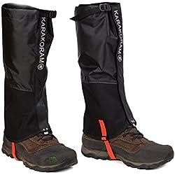 SehrGo Unisex Adultos al aire libre Montaña Nieve Legging polainas, creando viento impermeable calor Guantes cubren, para senderismo, esquí, senderismo, montañismo, caza (Negro, S, M, L) (Medio)