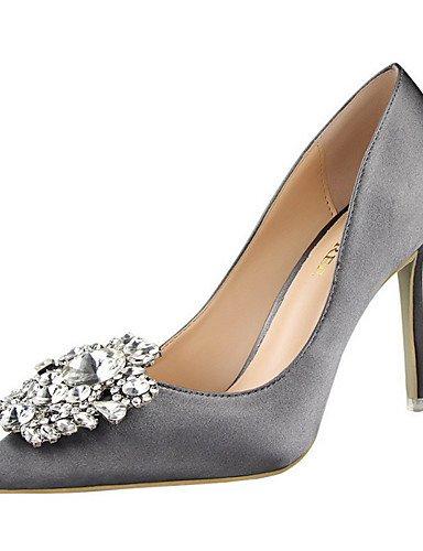 WSS 2016 Chaussures Femme-Extérieure / Habillé-Noir / Vert / Rose / Argent / Gris / Or-Talon Aiguille-Talons / Bout Pointu-Talons-Soie pink-us8 / eu39 / uk6 / cn39