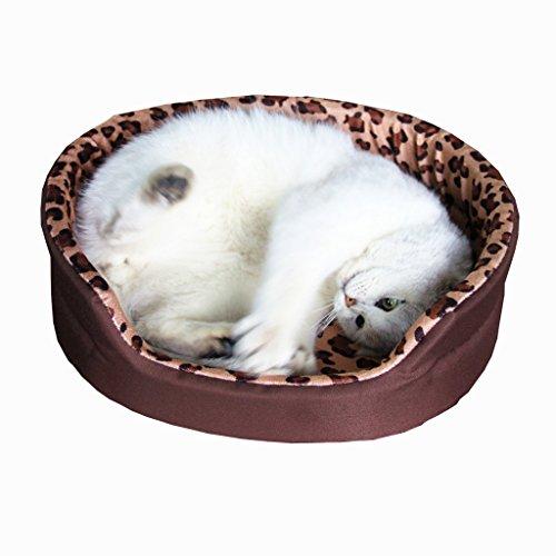 mixse, rund, wasserdicht, Oxford Pet Beds Bett mit Kissen rutschfeste Sofa für Katzen/Welpen/kleine Hunde 5Farben 3Größen