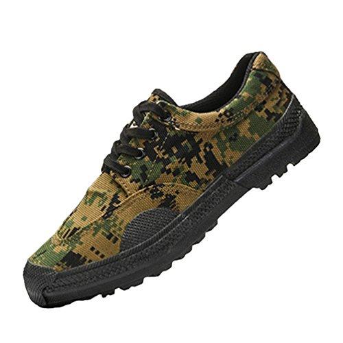 Dooxi-Donna-o-Uomo-Casuale-Sportive-Formazione-Sneakers-Durevole-Piatto-Basse-Tela-Scarpe-Camuffare