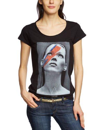 Eleven Paris Damen T-Shirt Katos W EP1514 mit All-over Druck Schwarz (M06 Black)