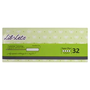 Lil-lets Non-Applicator Tampons Super Plus Absorbancy - 32 Tampons