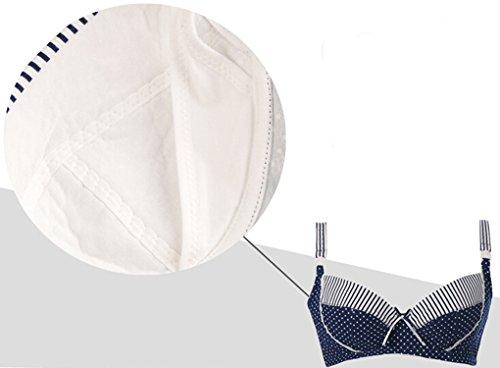 Smartstar Komfort Baumwollen Umstandsmode Schwangerschafts Still BHs Maternity Nursing Lace Bra Softcup Mit Weichem Bügel BH - Blau