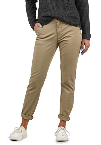 BlendShe Chilli Damen Chino Hose Stoffhose Regular-Fit, Größe:XS, Farbe:Silver Mink Washed (20255)