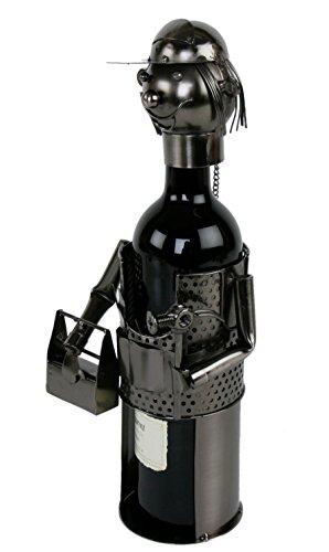 Handwerker Flaschenhalter Metall Weinflaschenhalter Sekthalter Flasche Deko