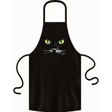 Con Sexy gatti occhi gatto nero Gatto–Grembiule per amico taglia unica Fb Nero:)