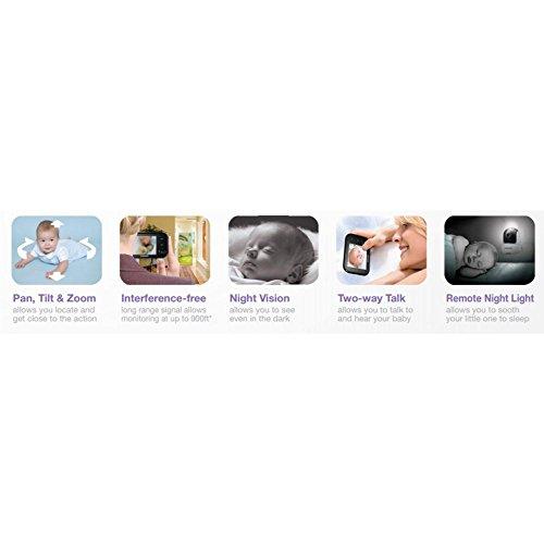 Samsung SEW-3037 Baby Monitoring System (8,9 cm (3,5 Zoll) LCD-Monitor, bis 4-Kamera, QVGA, CMOS-Sensor, Nachtsicht) weiß - 5