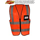 TheCoolio TCSVFOXL_FBS High Visibility Fluorescent Orange Reflective Safety Vest, X Large
