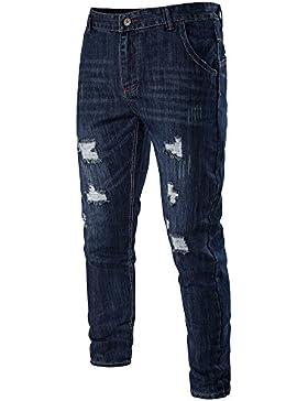 Pantaloni Uomo Jeans Chino Slim Fit Sguardo Distrutto