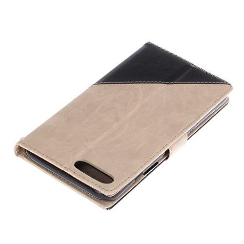 iPhone 7 Plus Coque,Etsue Fine Folio Cuir Coque de Téléphone Mobile pour iPhone 7 Plus,Raffinement Degré Supérieur Mode Leather Case étui [Relief Arbre Brune Motif] pour iPhone 7 Plus,Carte de Visite  #2