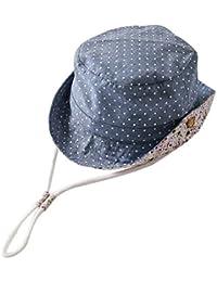 EOZY Baby Punkt Fischerhut Blau UV-Schutz Sonnenhut Schlapphut