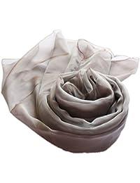 Prettystern - Foulard Stola Femme irisé taffetas de soie XXL Bicolore - Robe du Soir