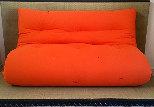 Divano Letto 160 X 200.Divano Letto Futon Double Face Base Tatami Colori Rosso Arancio
