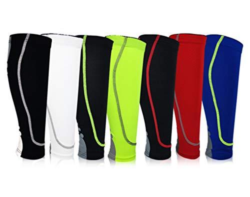 AnazoZ Wadenbandage Sport Waden Kompression Wadenstrümpfe Kompressionsstrümpfe Geeignet für Basketball, Tennis, Fußball, Laufen und Bergsteigen - Blau L