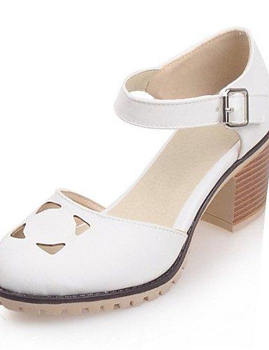 WSS 2016 Chaussures Femme-Mariage / Soirée & Evénement / Habillé / Décontracté-Bleu / Rose / Blanc-Gros Talon-Talons-Talons-Similicuir pink-us5 / eu35 / uk3 / cn34