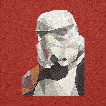 Texlab – Low Poly Trooper – sacchetto di stoffa Rot