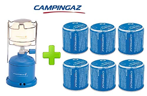 ALTIGASI Lanterne Lampe à gaz Camping 206 l 80 W + 6 pièces Cartouche à gaz Campingaz C206 GLS