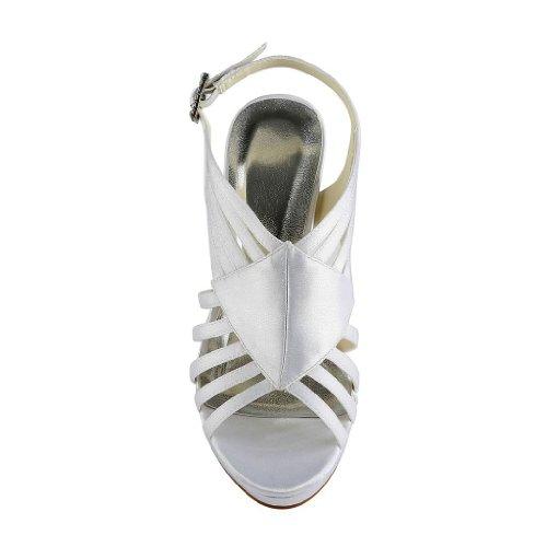 Jia Jia Wedding 37033 chaussures de mariée mariage Escarpins pour femme Blanc