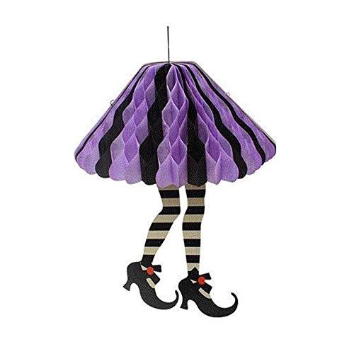 Goolsky Halloween carta taglio tacco alto paracadute appendere decorazioni ornamento casa dei fantasmi frequentato puntelli del layout della scena