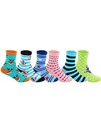 Supersox Kid's Regular Length Pack of 6 Combed Cotton Socks