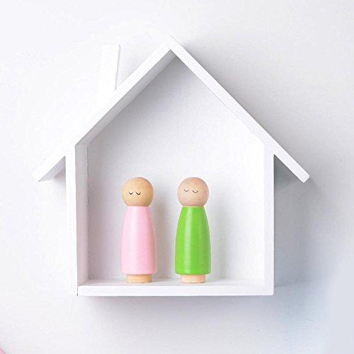 Haus Form Wand Bücherregal Holzwand Regal Display Hängenden Regal (Bücherregal Display-regal)