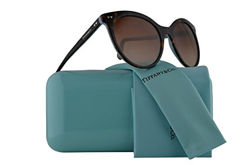 Tiffany & Co. Frau TF4141 Sonnenbrille Blau w/Brown Gradient Lens 55mm 81343B TF4141 TF 4141 TF 4141 Havana groß