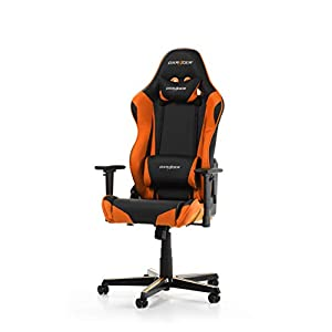 DXRacer Racing R0-NO Gaming Stuhl, Kunstleder, Orange, 56x64x135cm (LxBxH)