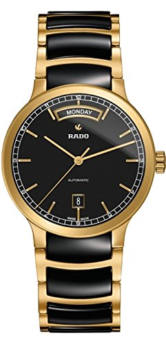 RADO WOMEN'S CENTRIX CERAMIC 38MM GOLD PLATED CASE AUTOMATIC WATCH R30157162
