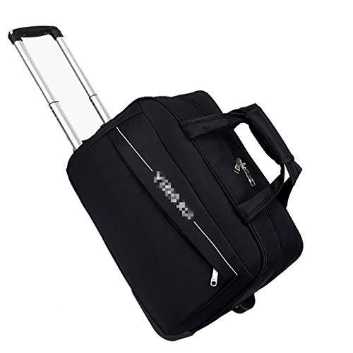 Liuwenan Trolley Tragekoffer 2 Räder Business-Koffer Reise-Reisetasche Outdoor-Trolley, hohe Kapazität Leichte Reisetasche Drag Bag Gepäcktasche Kofferraum (Color : Purple, Size : M) -