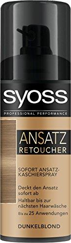 Syoss Ansatz Retoucher Kaschierspray Dunkelblond Stufe 1, 3er Pack (3 x 120 ml)