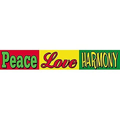 REGGAE Peace Love Harmony, Officially Licensed Original Artwork, High Quality, 1.5