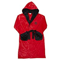 Boys Or Girls Character Christmas Camouflage Plain Fleece Dressing Gown Robe, 18C259 Red, 9-10 Years
