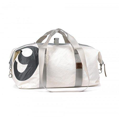 Preisvergleich Produktbild 360° Grad Kutter XL Sporttasche, weiss,  Zahl grau, Gurt grau