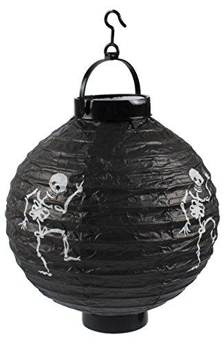 Najer Jurjewitsch Halloween Dekorationen Papier Laternen mit LED-Licht Skelett