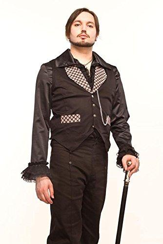 Steampunk Herrenweste mit Muster, Größe:M;Farbe:Braun (Erwachsene Braun Steampunk Kostüme Hosen)