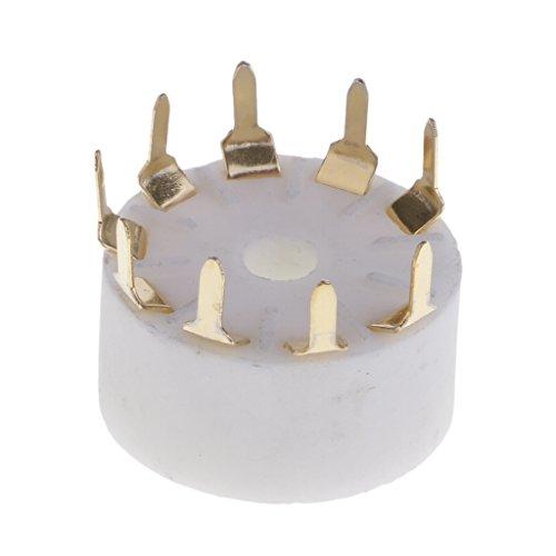 Perfeclan 9 Pin Silber Keramik Röhrensockel PCB Sockel für Gitarrenverstärker, Radio Funkmeldung