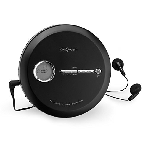oneConcept CDC 100MP3 • Discman • Disc-Player • CD-Player • Programmierfunktion • Bassverstärkung • Anti-Schock-System • LCD-Anzeige • mobile Betriebszeit bis zu 8h • Unterstützte Formate: CD, CD-R, CD-RW und MP3-CD • inkl. InEar-Kopfhörer • schwarz