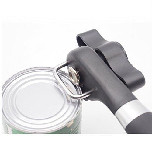 Acciaio inossidabile può apriscatole di sicurezza Techson, Smooth Edge palmare utensili da cucina per ristorante, anziani, per mancini, artritiche mano