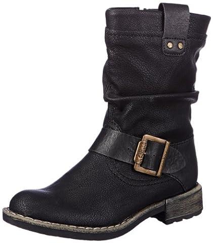 Rieker 74692-00, Damen Biker Boots, Schwarz (schwarz/schwarz / 00), 38 EU (5 Damen UK)