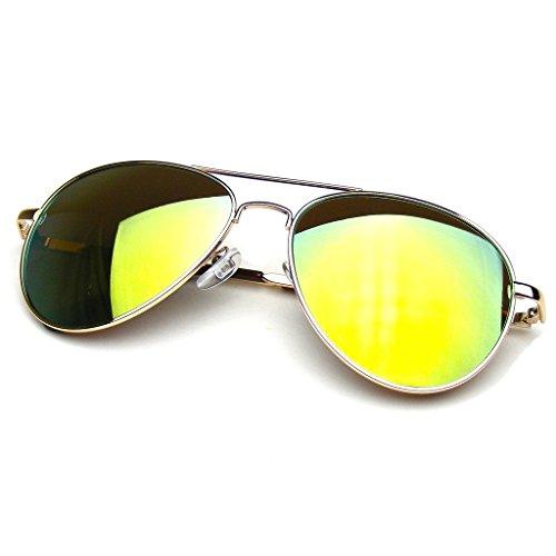 Emblem Eyewear - Aviator Occhiali Da Sole Vintage Specchio Lente