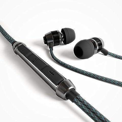 GIGA Essentials G Cord In Ear Kopfhörer Headset mit Mikrofon, Fernbedienung für iPhone, Android
