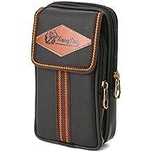DALUCI Universal Flip Phones Case Card Waist Bag Pouch Belt Clip Wallet
