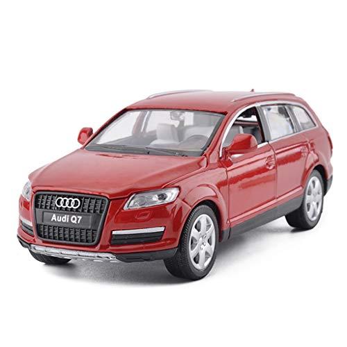 GLJJQMY Modellauto Audi Q71: 32 statisches Spielzeugautomodell der Druckgusslegierung (Color : Red) - Sammlung Rote Lackierung