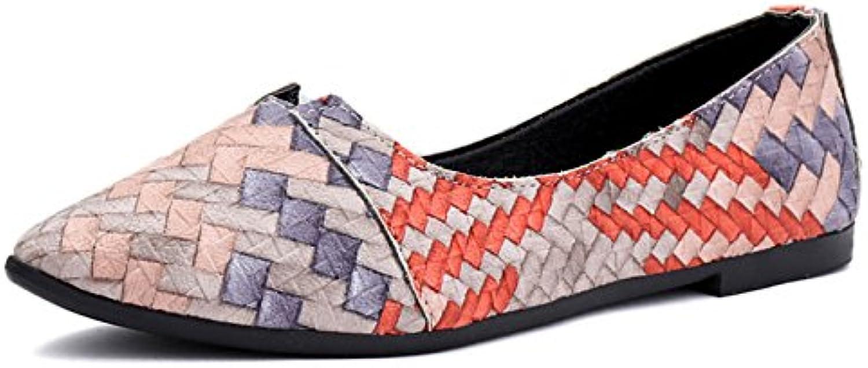 Planos De Las Mujeres Del Holgazán Luz Acentuada Cuatro Temporadas Zapatos Colorblocking Zapatos Ocasionales Cómodos...