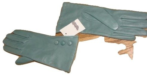 john-lewis-womens-silk-lined-leather-gloves-colour-raspberry-or-vintage-blue-size-small-medium-large