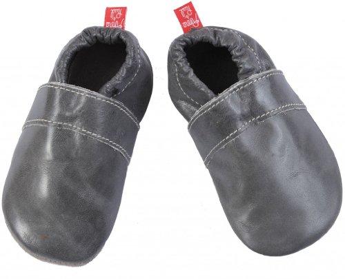 Anna und Paul , Chaussures souples pour bébé (fille) bleu marine 18-19 EU / S gris